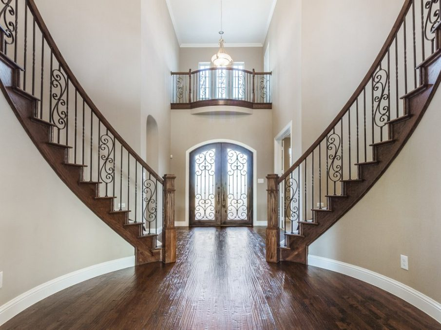 Landon Homes new home builder 432 Carrington Entry with staircase