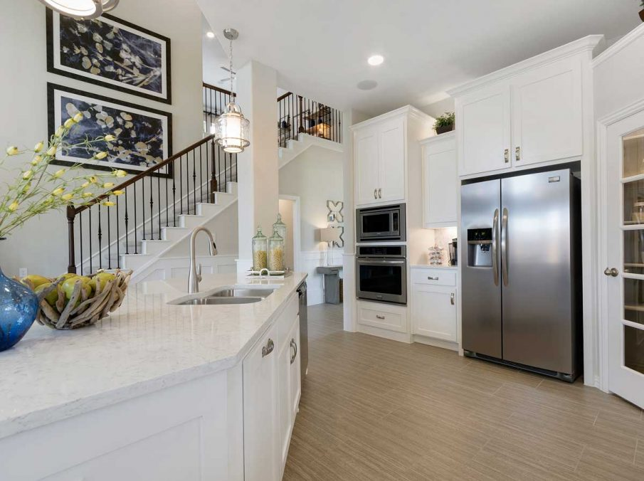 4655 Wellington Landon Homes Decorated Kitchen Stainless Steel Appliances