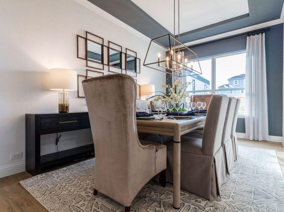 Landon Homes 675 Newbridge Dining Room with Wood Flooring