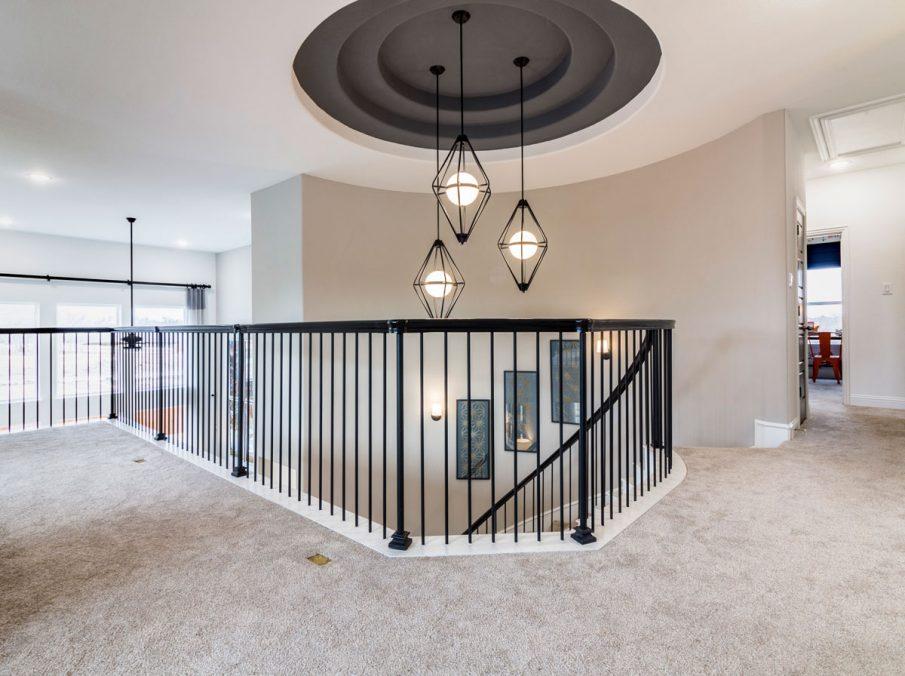 Landon Homes 675 Newbridge Top of Stair Case Ceiling Detail